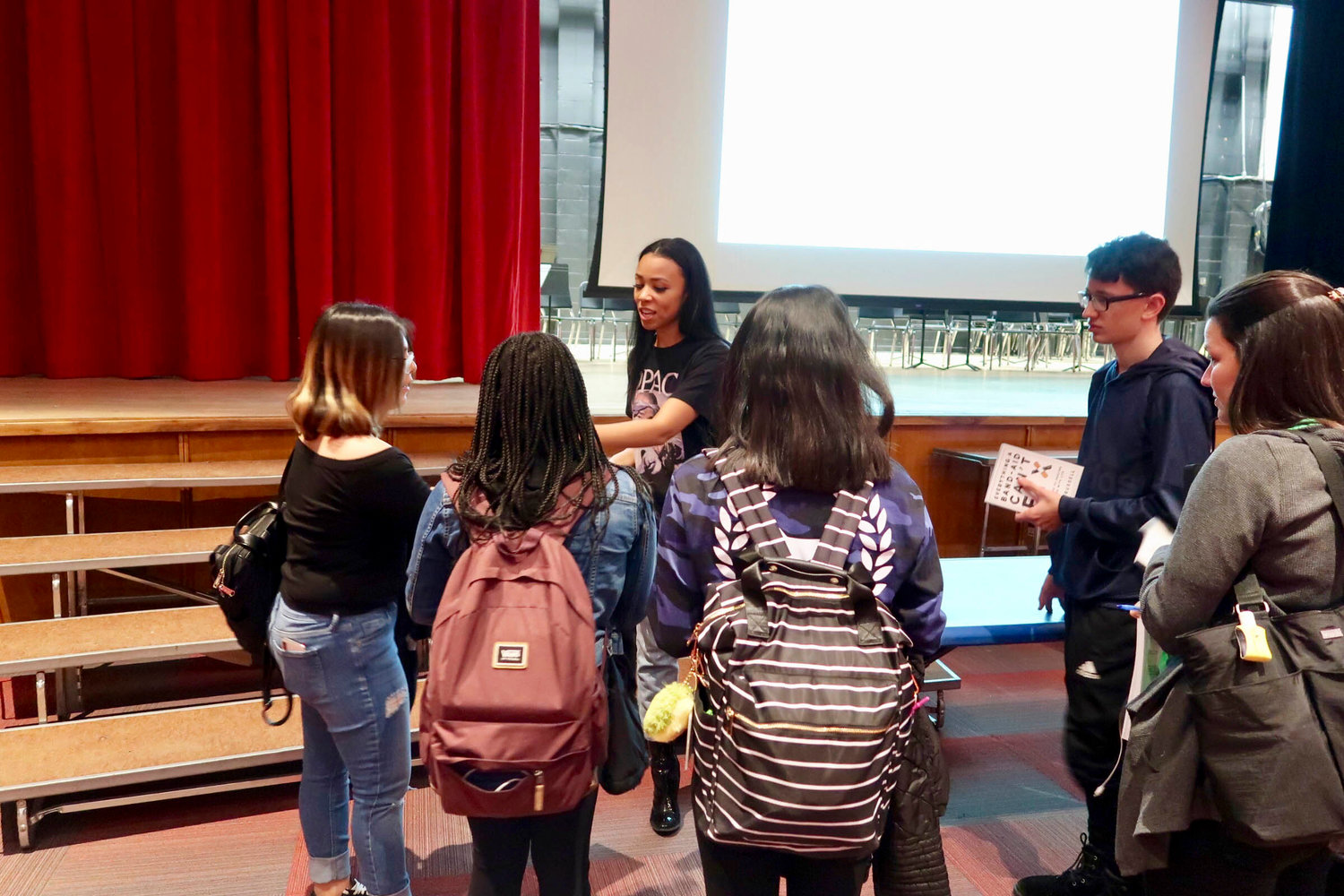 Lawrence High School graduate Nicole Russell signed her book and spoke to students at her alma mater on Jan. 15.