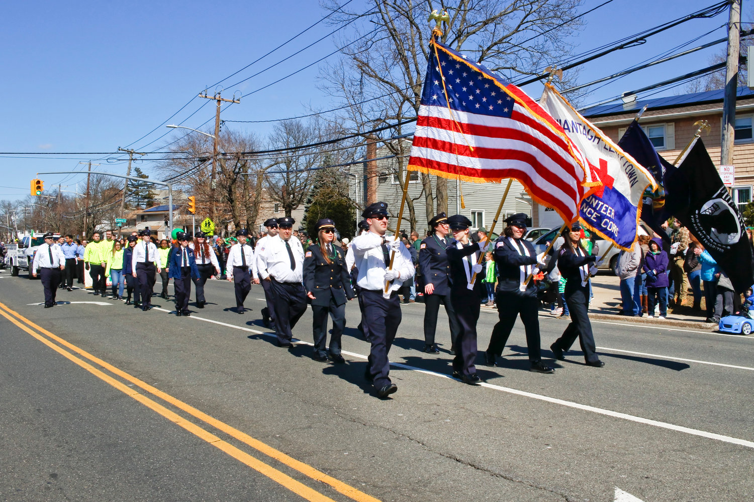 Members of the Wantagh-Levittown Volunteer Ambulance Corp. marched in the parade.