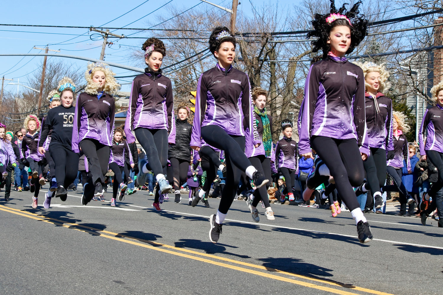 Irish Dancers from the Schade Academy performed for spectators as they marched along the route.
