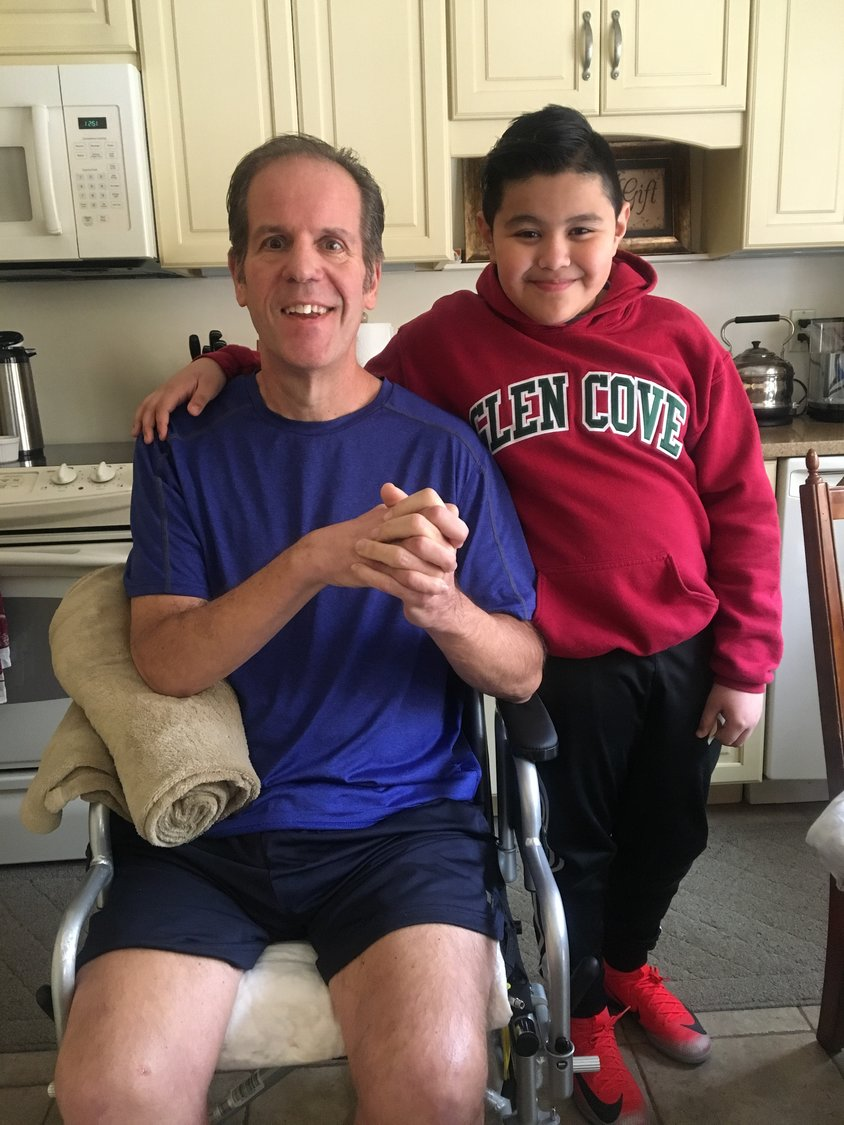 Ed Smith has had a profound effect on 10-year-old Landing Elementary School fifth-grader David Maldonado, who has visited his favorite teacher a number of times since Smith's stroke.