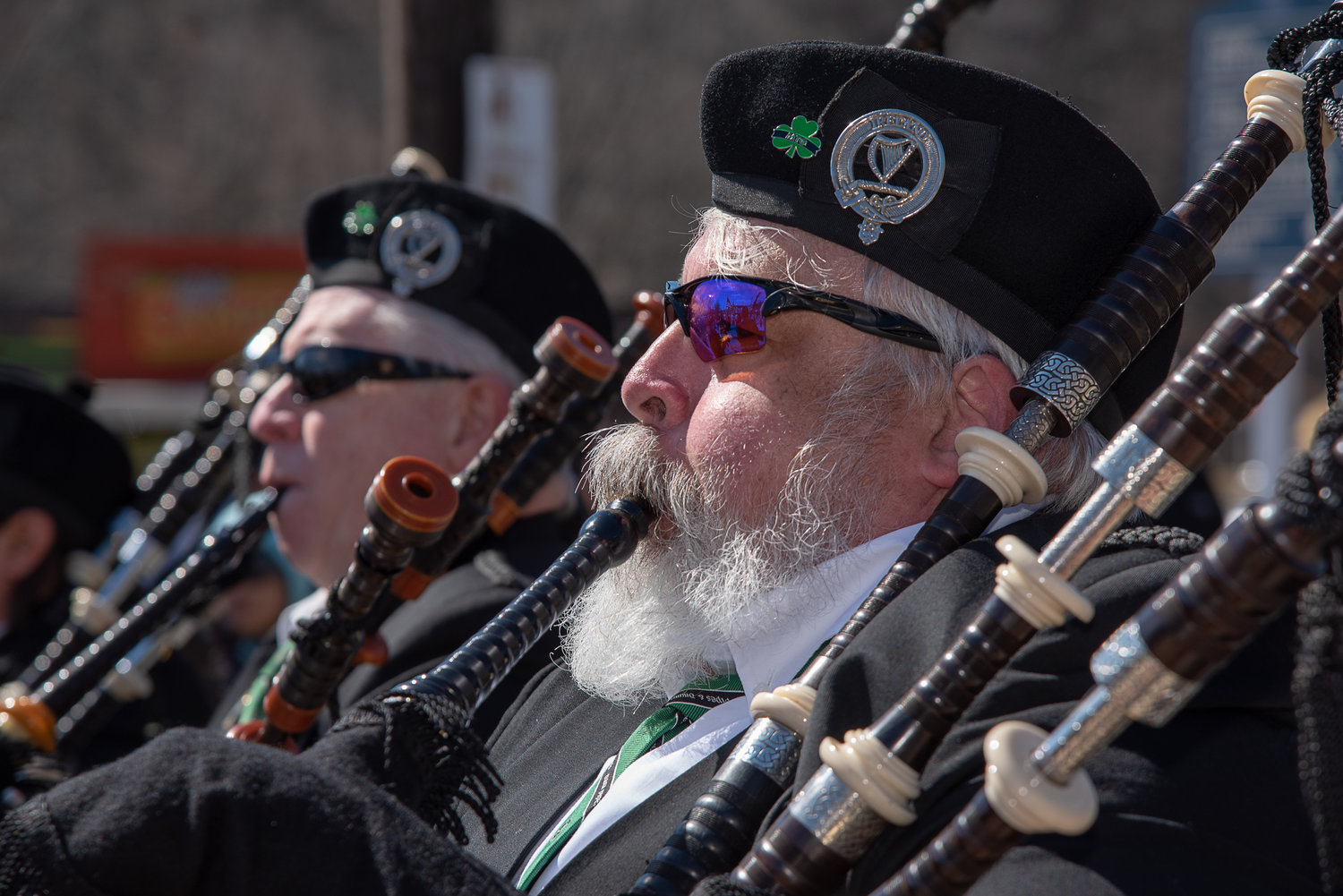 Ed McGlade, an officer on the Nassau County Board of the Ancient Order of Hibernians, is also a member of the Tara Pipes & Drums.