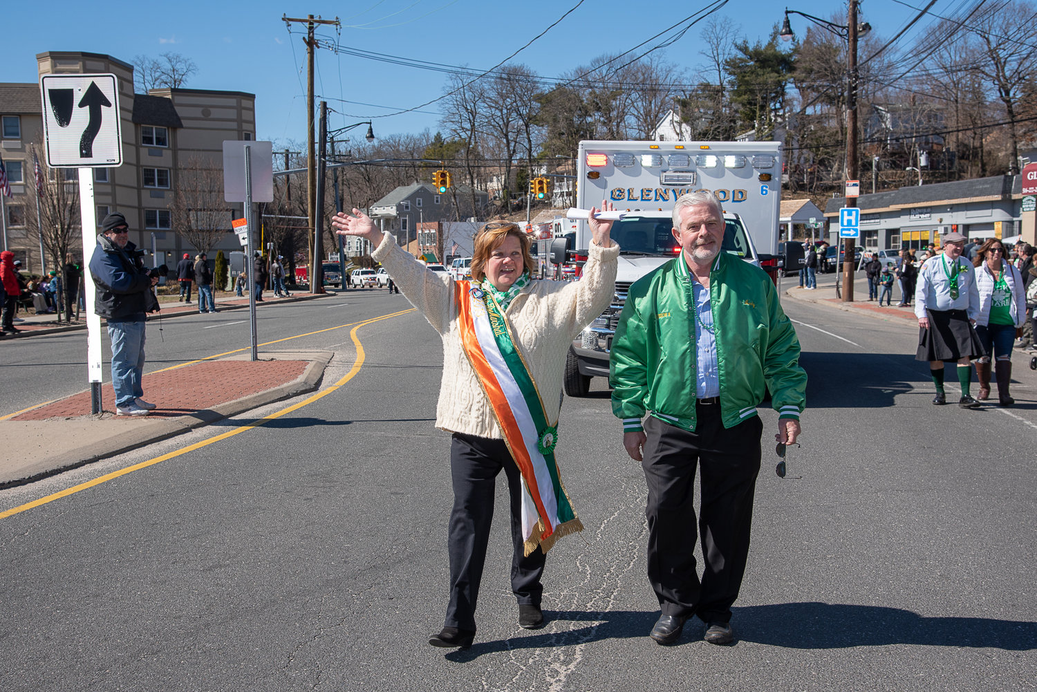The two Hibernians most responsible for the parade were co-chairs Lisa Bartley Forgione and Andrew Stafford.