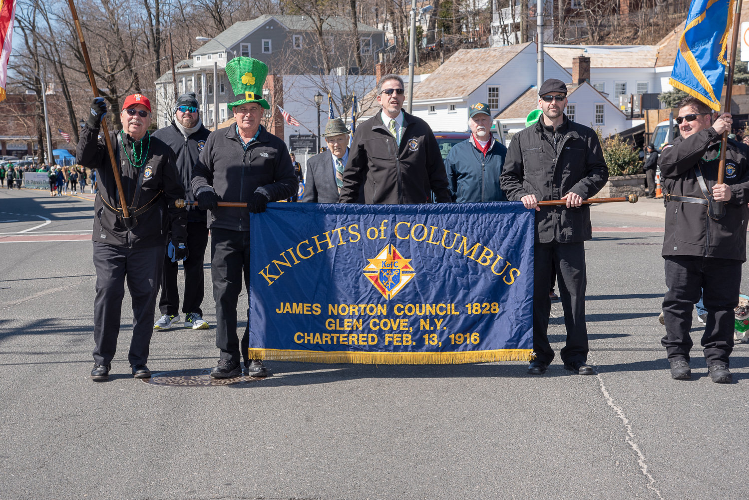 Members of the James Norton Council 1828 Knights of Columbus were proud to march in the parade.