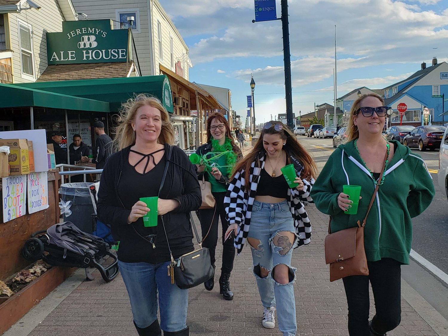 With St. Patrick's Day falling on Sunday, the LepreCon Long Island Irish Pride Bar Crawl was held the day before on the Nautical Mile. The event attracted hundreds of South Shore residents, including Desiree Murphy, left, Joy McAnulla, Courtney Fox and Beth Koehler, all of Oceanside.