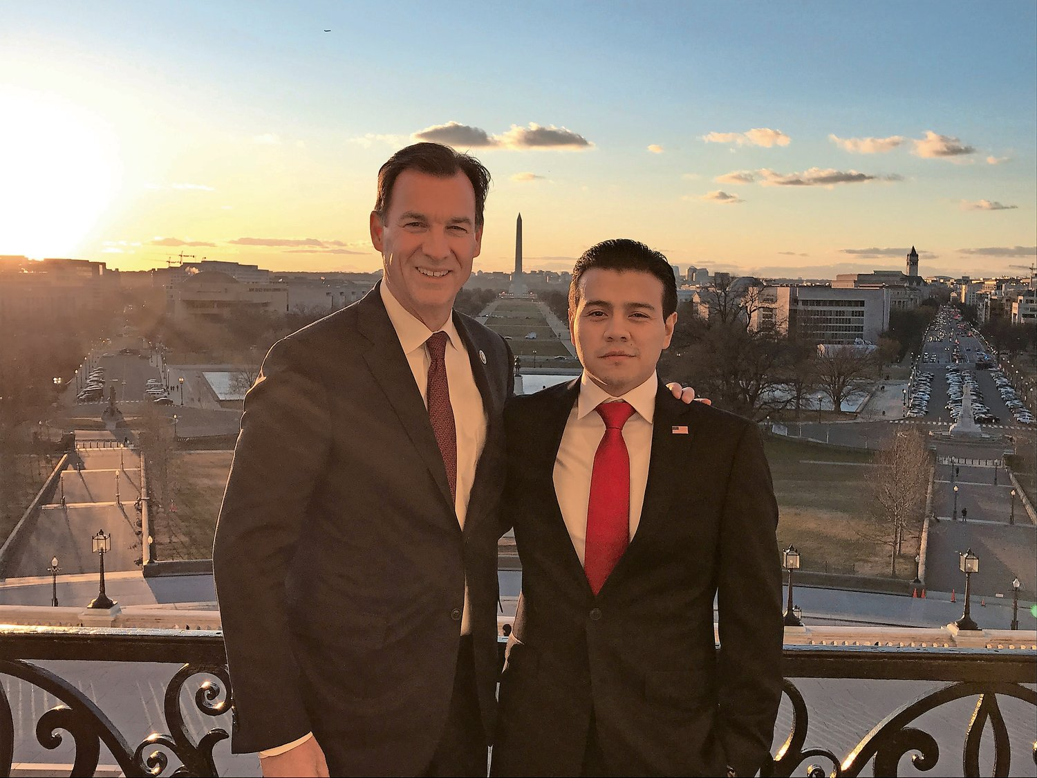 Nelson Melgar accompanied U.S. Rep. Tom Suozzi to President Trump's 2018 State of the Union address. Suozzi has said he believes that what is needed is to put a face on the issue of immigration.