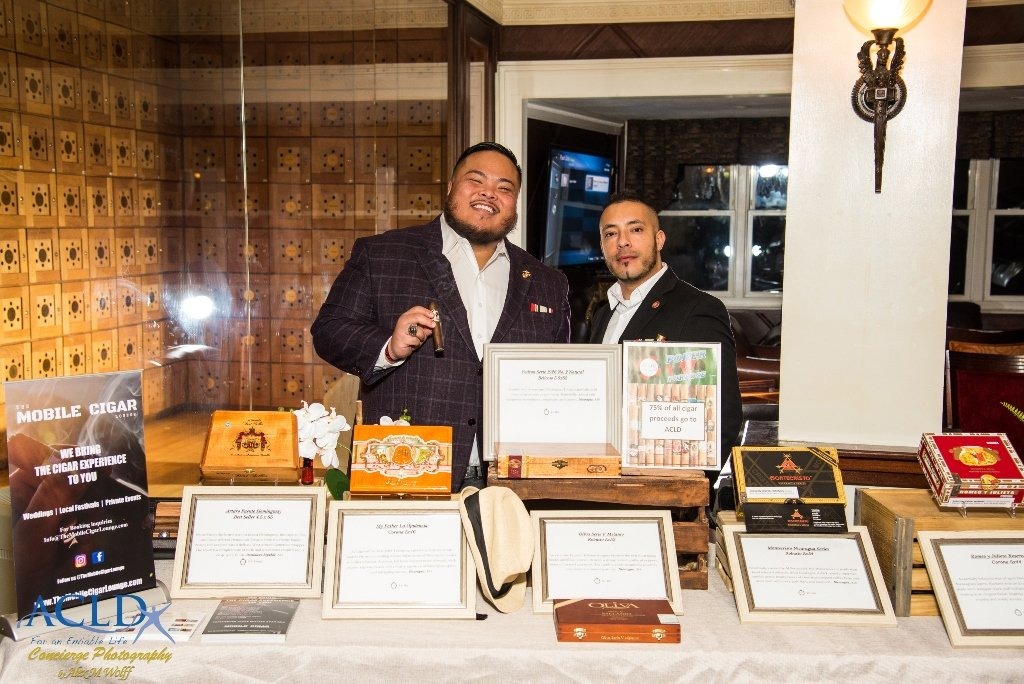 Mobile Cigar offered a fine selection of cigars to attendees during ACLD Foundation's first Poker for a Purpose fundraiser at Havanas Cigar Club at The Carltun on March 11.