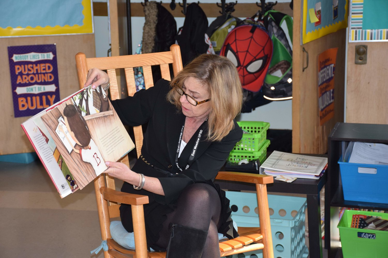 Bowling Green Elementary School Principal Maria Ciarametaro read to a class during Guest Reader Day on March 8.
