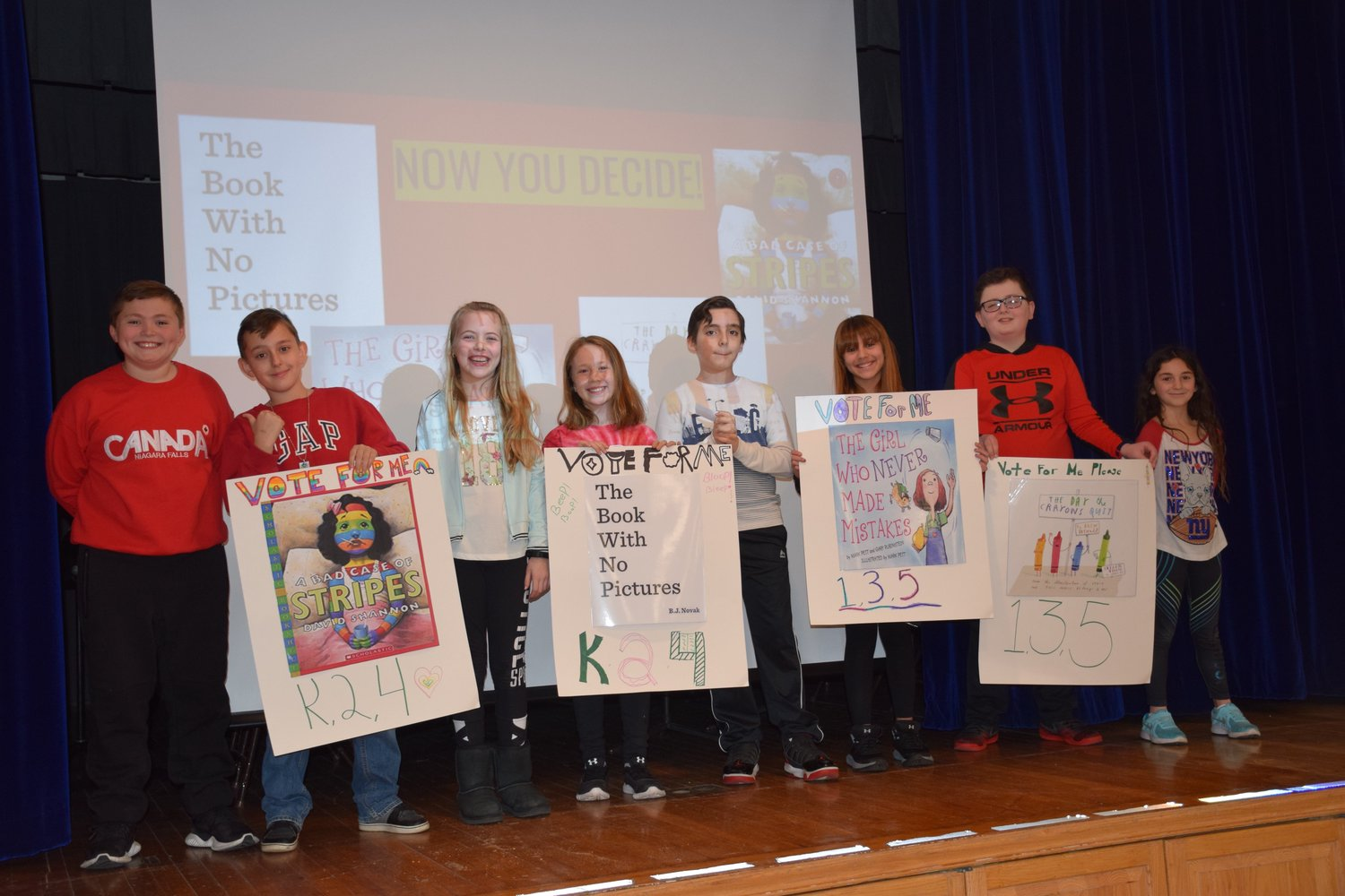 Students at Parkway Elementary School helped to unveil the final four books in the school's Tournament of Books during a Pick a Reading Partner pep rally on March 11.