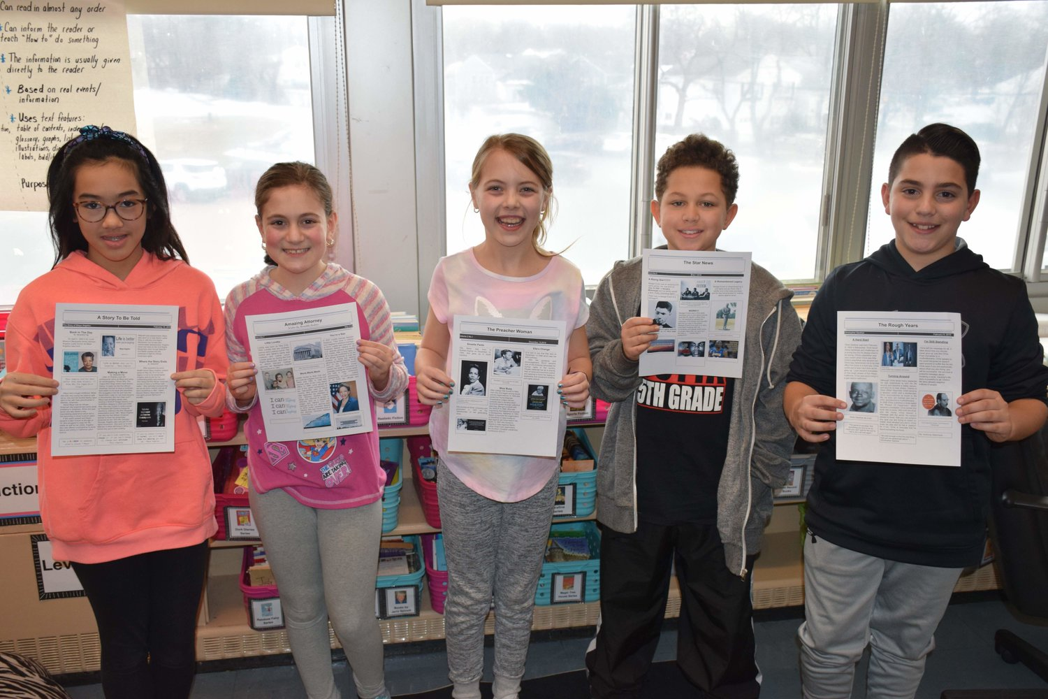 Fifth-grade students at Parkway Elementary School presented their Black History Month projects on March 6.