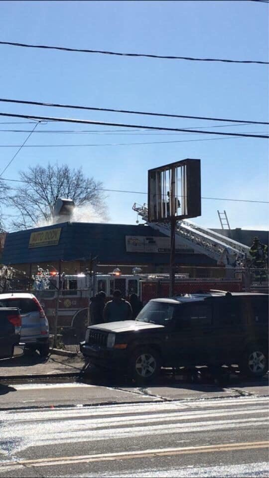 Three fire departments extinguished a blaze at Sunny's Auto Service at 50 Sheridan Blvd. in Inwood on March 26.