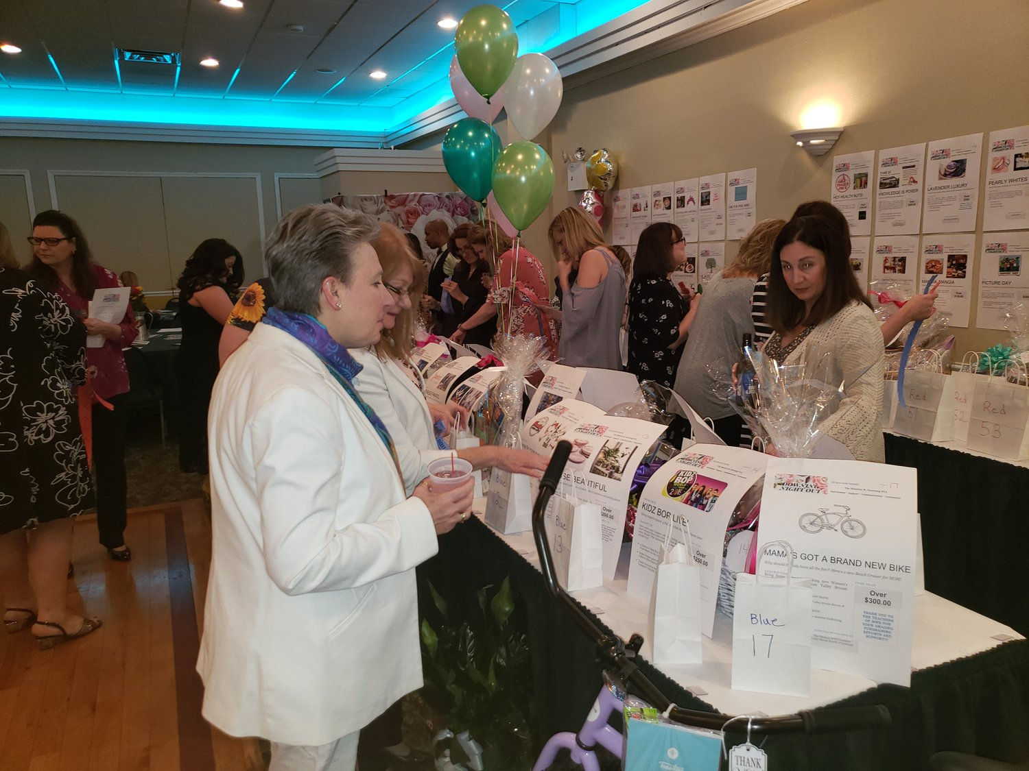 Several prizes were raffled at Maurice W. Downing Primary School's annual Downing Night Out on March 22.