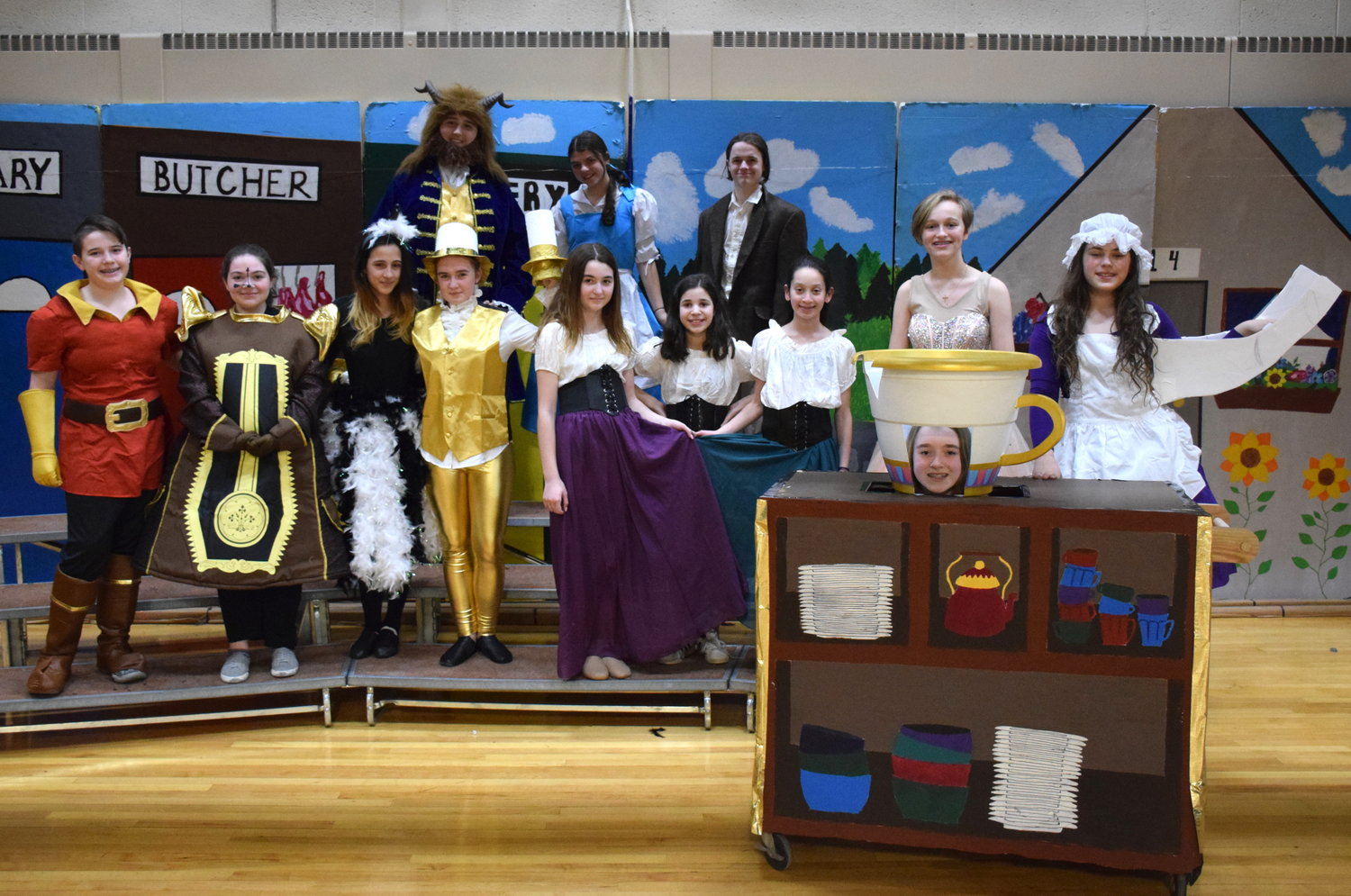 "Lead actors in a performance of ""Beauty and the Beast"" at Seaford Middle School on March 22 and 23."