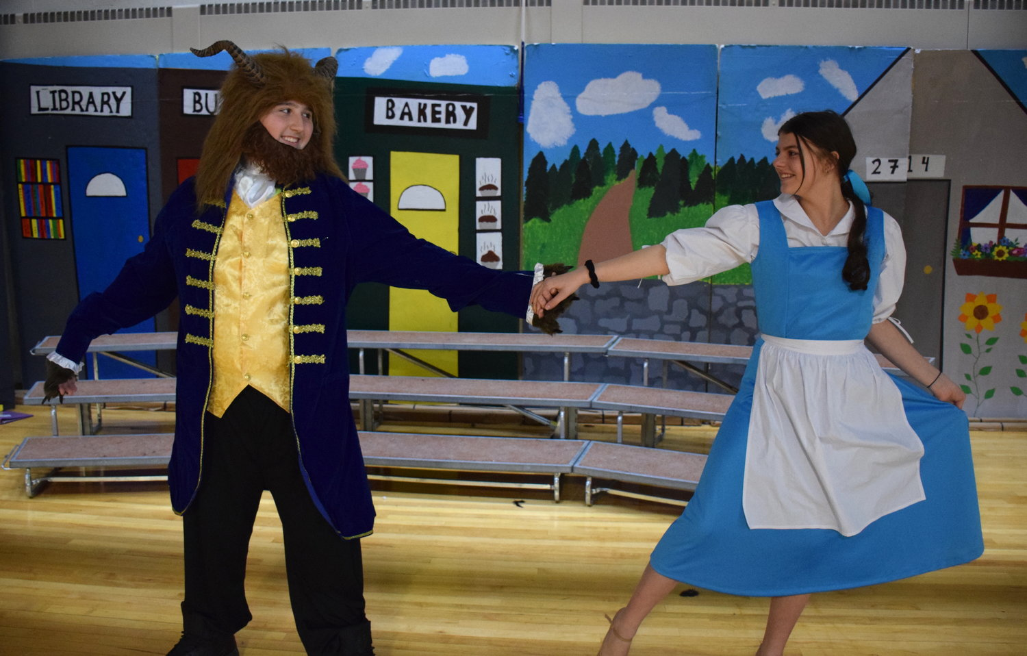 Brendan Murphy and Raelyn Luft stared as the Beast and Beauty in the production.