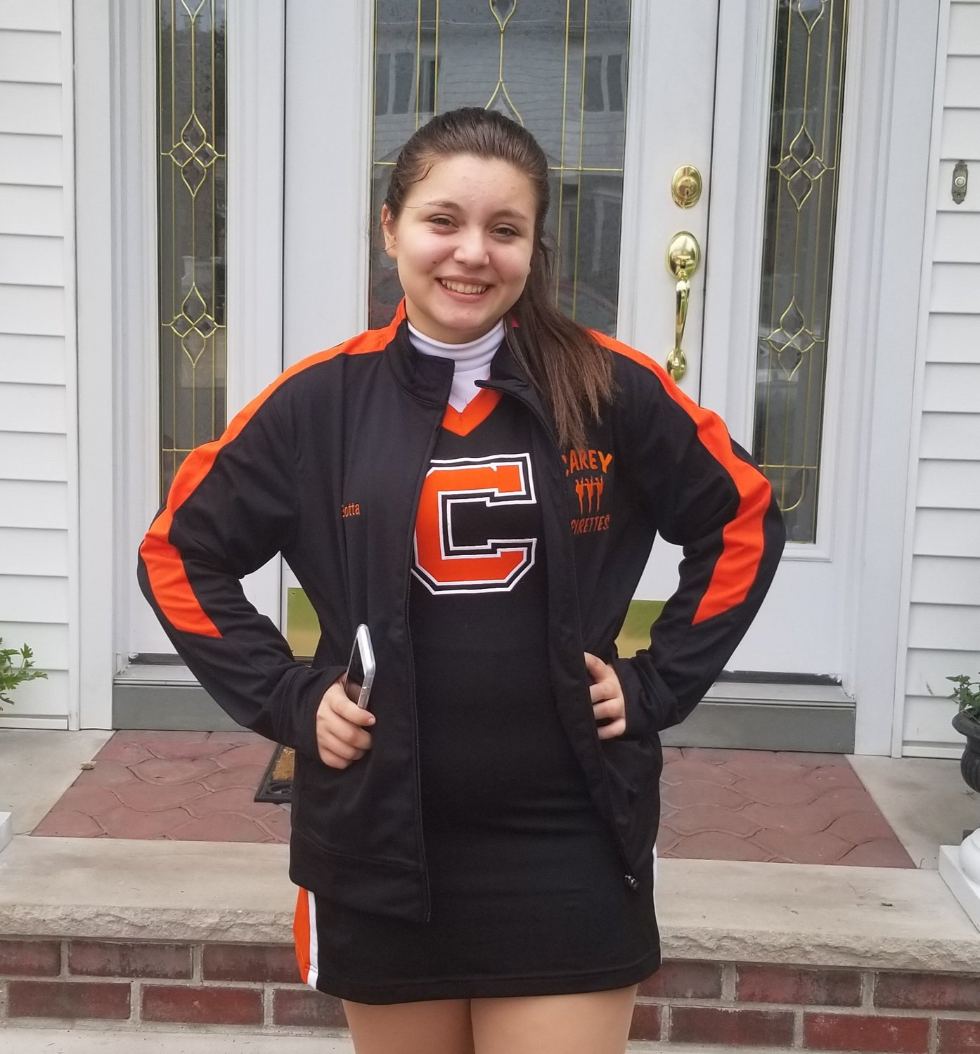 Franklin Square's Jacqueline Botta was diagnosed with nephrotic syndrome on Feb. 28, 2016. Despite her illness, she still particiapates in school activities, including the H. Frank Carey Pirettes kickline team.