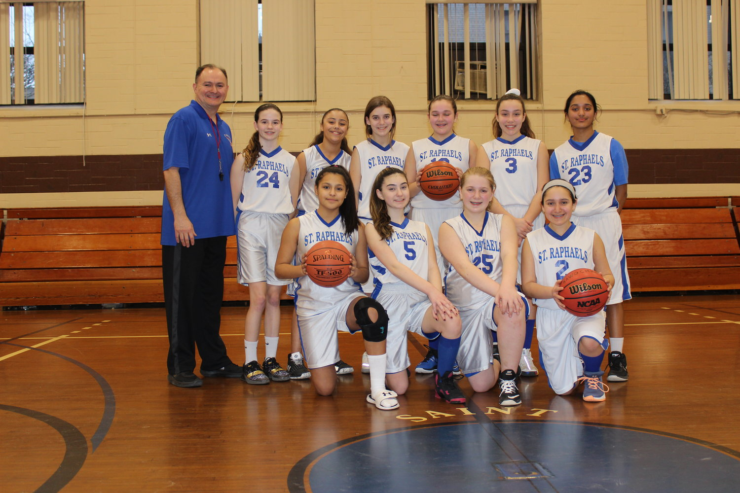 c2b2933de The St. Raphael s seventh-grade girls  basketball team went undefeated in  the Long