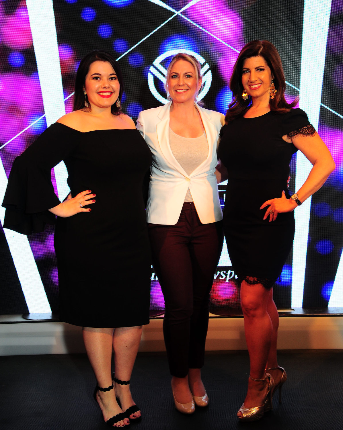 The evening's masters of ceremonies were Alyssa Seidman, of the Sea Cliff/Glen Head Herald, Kara Reifert, of K-98.3, and Antoinette Biordi, of News 12 Long Island.
