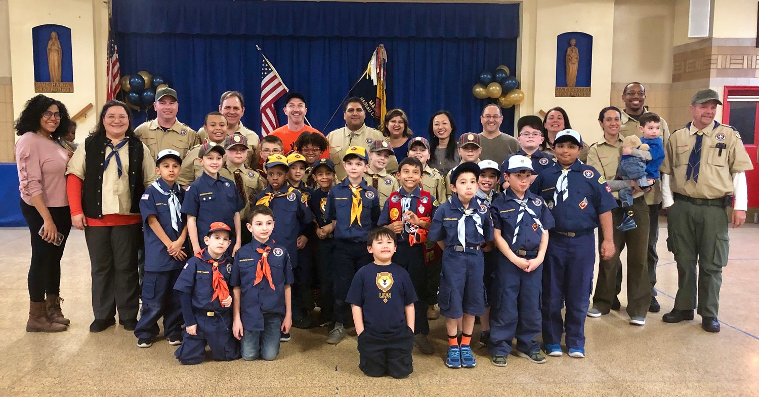 Malverne Cub Scouts Pack 24 will take part in a cleanup at Tanglewood Preserve in Rockville Centre on April 13.