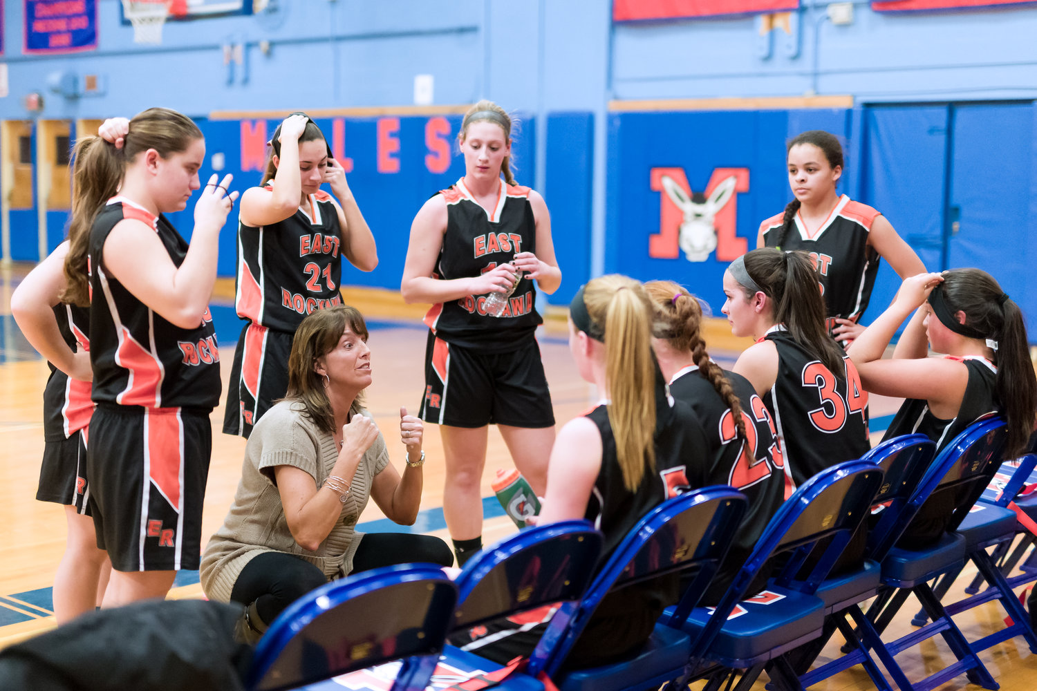 East Rockaway girls' varsity basketball coach Karin Leary recently retired after 19 seasons, during which her teams won 209 games and six county championships. Her former players said she had a profound impact on them, on and off the court.