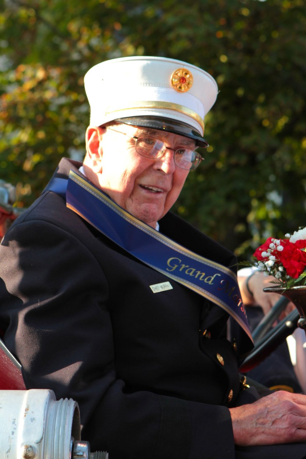 Eugene J. Murray was the grand marshal of the Nassau County Firemen's Association Parade in 2015.