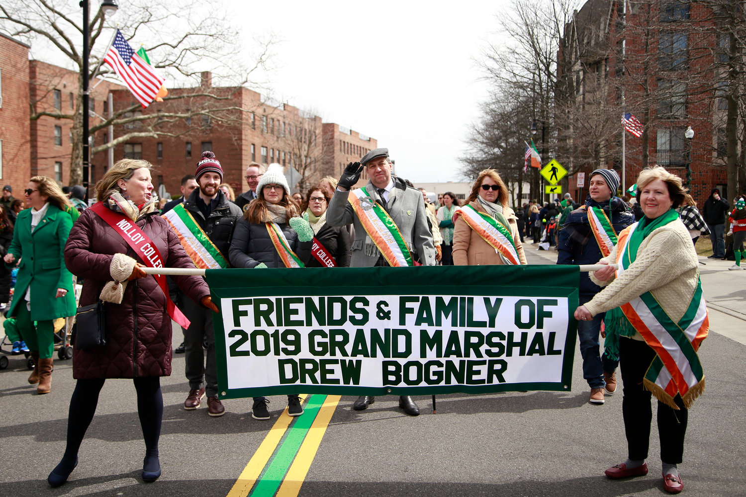 Drew Bogner served as grand marshal of Rockville Centre's St. Patrick's Parade on March 23.
