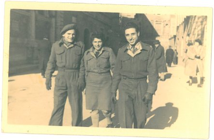 Schacherl, left, was stationed in Egypt and Italy when he served in the British Army in World War II.