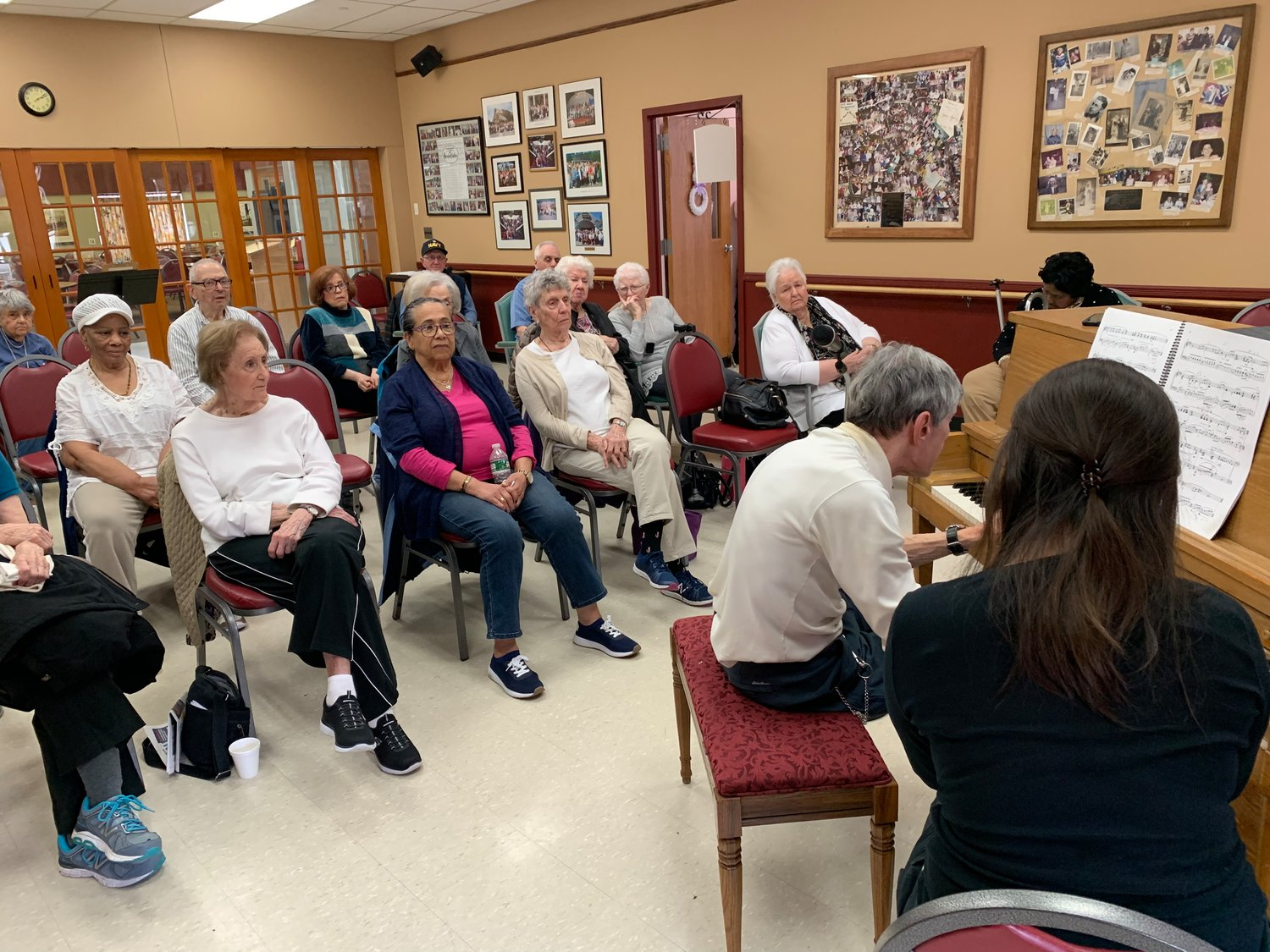 Although the audience for Holzman's performance at the senior center wasn't large, several people had strong emotional responses to the music.