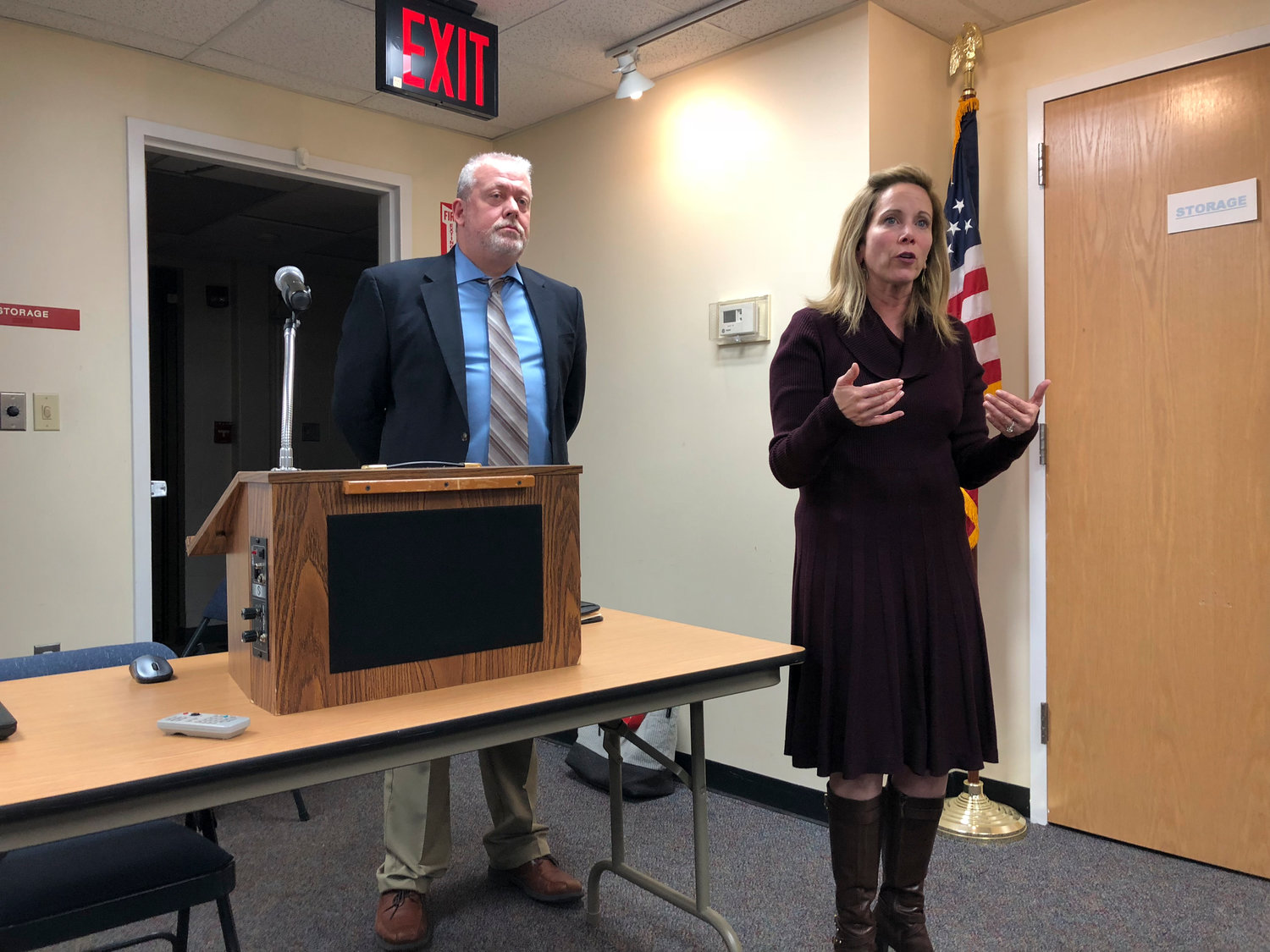 Town of Hempstead Supervisor Laura Gillen and her chief of staff, Jim LaCarrubba, addressed concerns about the condition of Rath Park, and said they would push for improvements in security and maintenance.