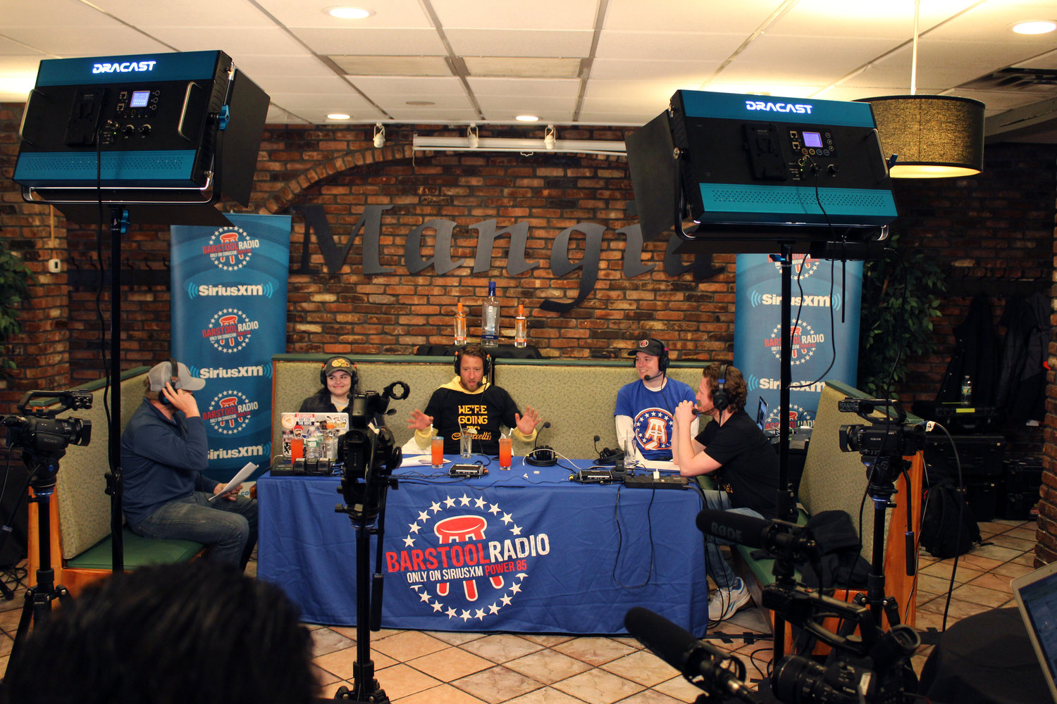 Barstool Sports broadcast its March 19 show at Borrelli's in East Meadow.