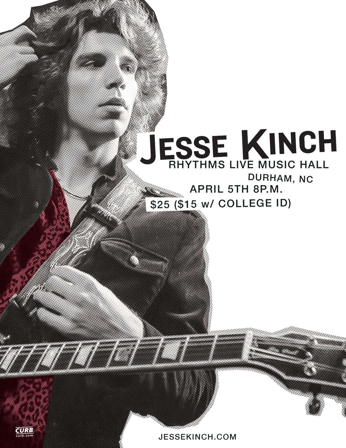 Twenty-four-year-old Jesse Kinch performed in Durham, N.C., on April 5.