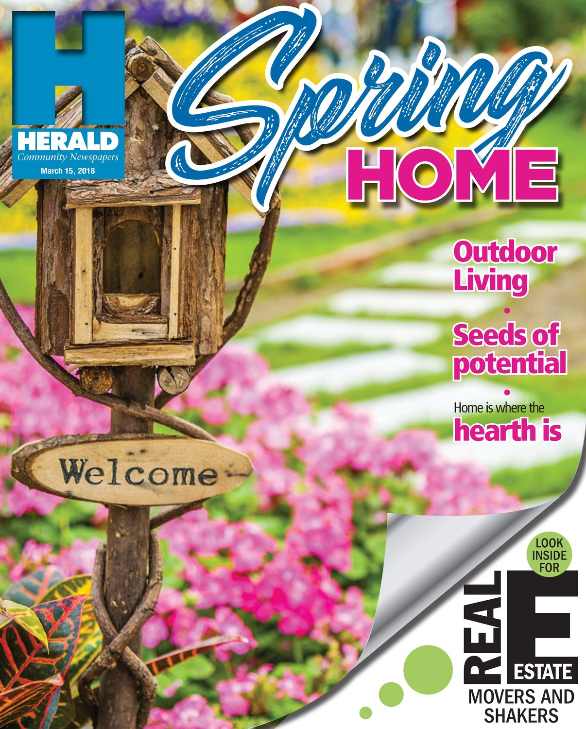 The Spring Home entry that won Jeff Negrin first place for Special Section Cover.