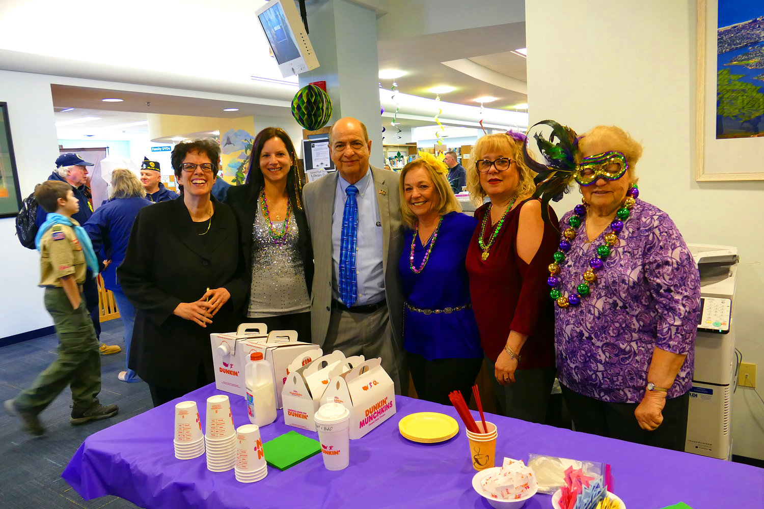 The Island Park Library celebrated Library Day on March 30. The theme of the year's festivities was Mardi Gras.