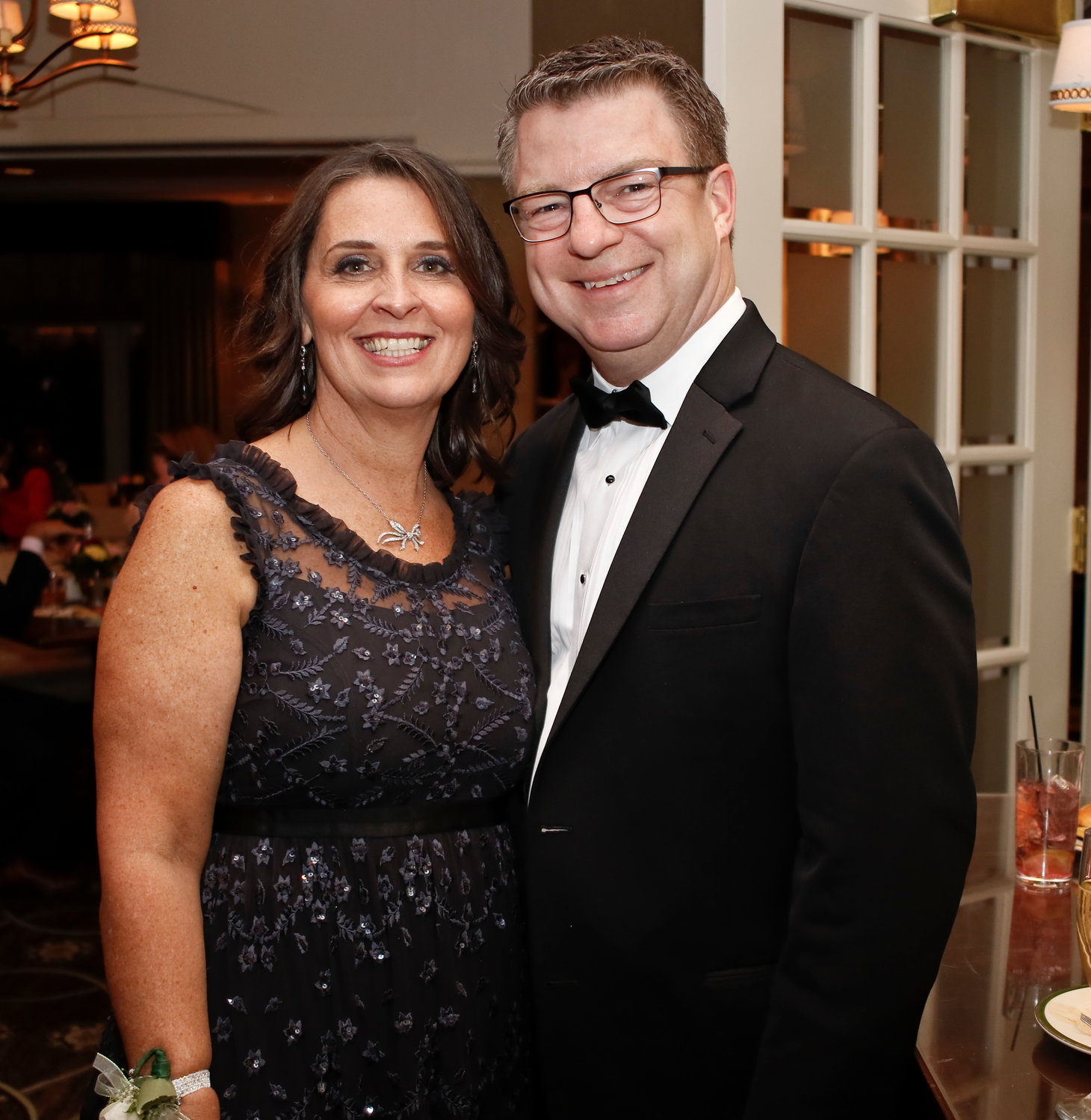 Education Foundation Gala honoree Katie Schumacher attended with her husband, Jeff.