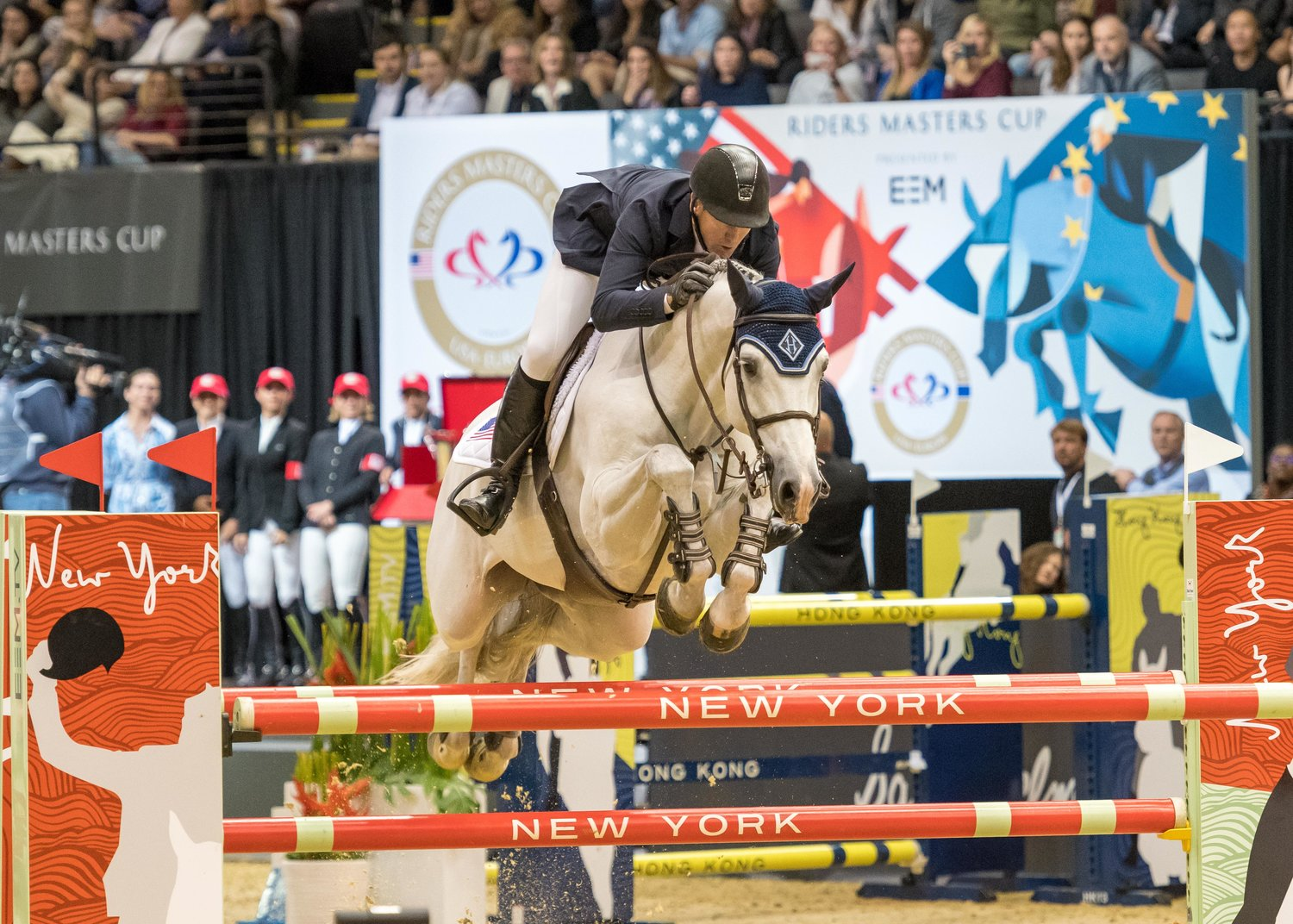 Olympic Gold Medalist McLain Ward displays his medal winning form.