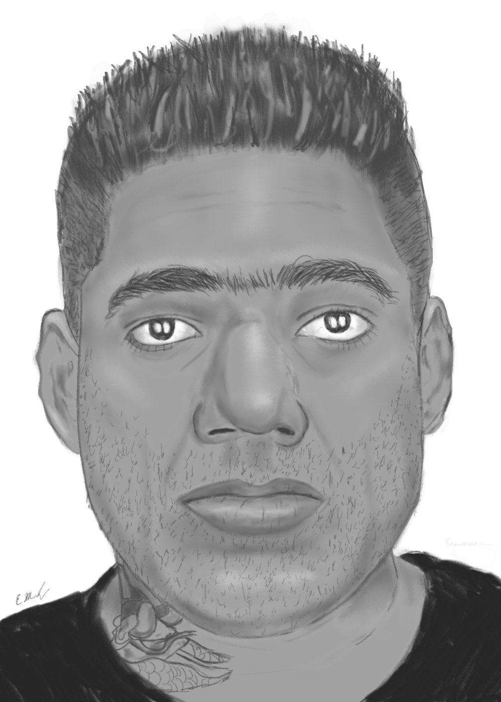 Police composite sketch of suspect
