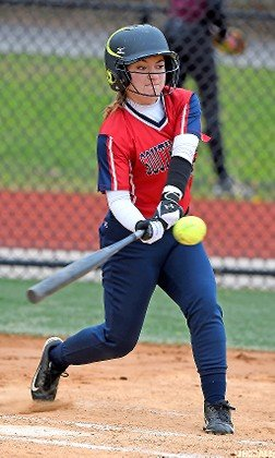 Marissa Mehrkens made contact for South Side in its Conference AB-I/II crossover loss to visiting Mepham on April 11.