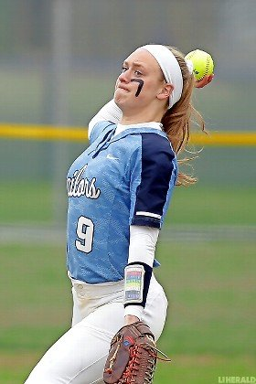 Junior center fielder Catherine Stanford leads Oceanside with a .455 batting average and 10 RBIs through a dozen games.