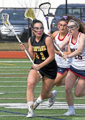 Wantagh sophomore Makenna Boutin, left, is part of a talented defensive unit expected to lead the Lady Warriors deep into the Class C playoffs again.