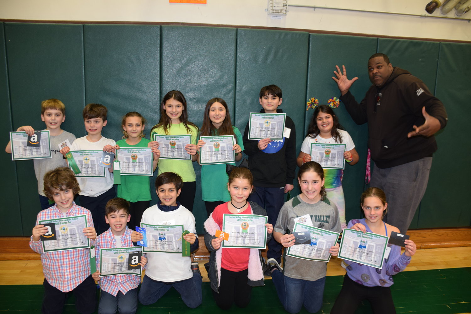 Damon Garner, a security guard in the Locust Valley School District, said he was blown away by the projects at Locust Valley Intermediate School's recent Science Fair.