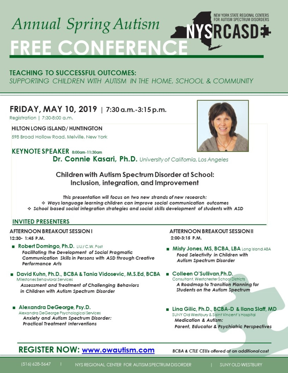 Social Creativity And Asd Challenging >> Free Autism Conference Teaching To Successful Outcomes Supporting