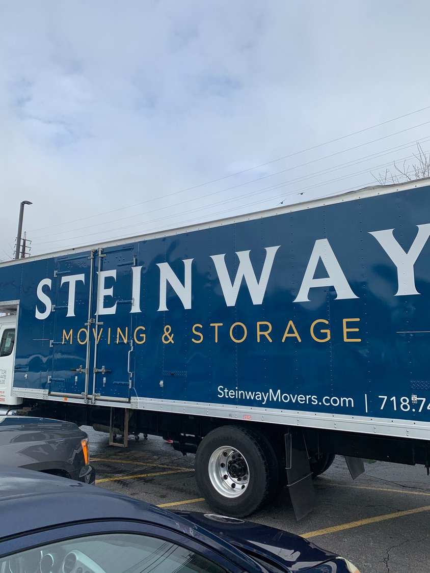 Lynbrook-based Steinway Moving and Storage collected food from the King Kullen in Rockville Centre on April 6.