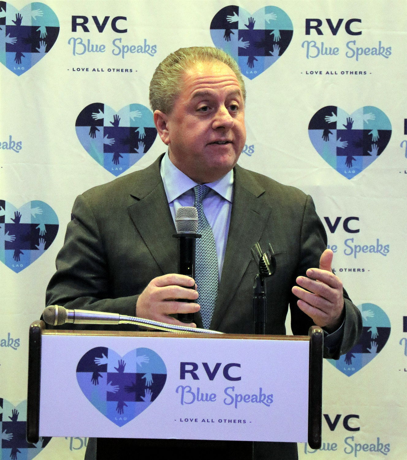 RVC Blue Speaks honored local businessman Butch Yamali for his generosity to the organization.