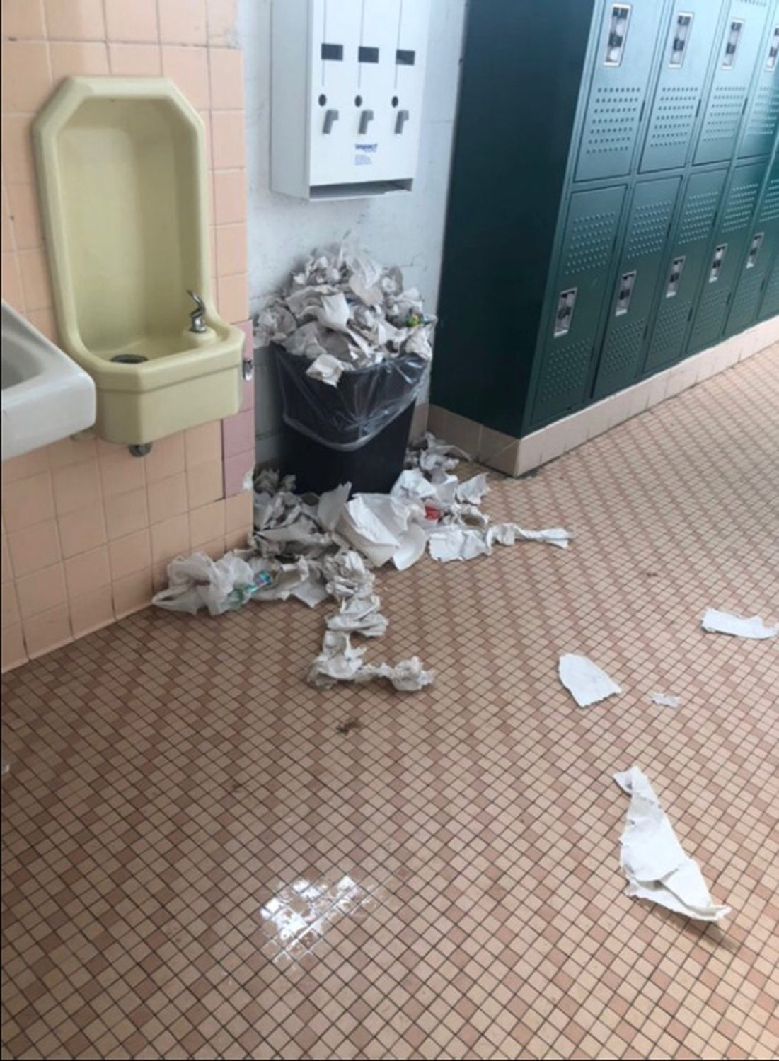 In response to complaints about overflowing garbage, Central High School District administrators provided North High School with larger garbage bins.