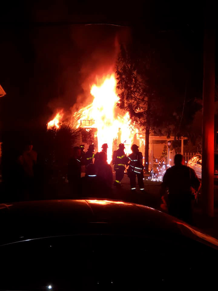 The Oceanside Fire Department responded to a blaze on Southard Avenue on April 11.
