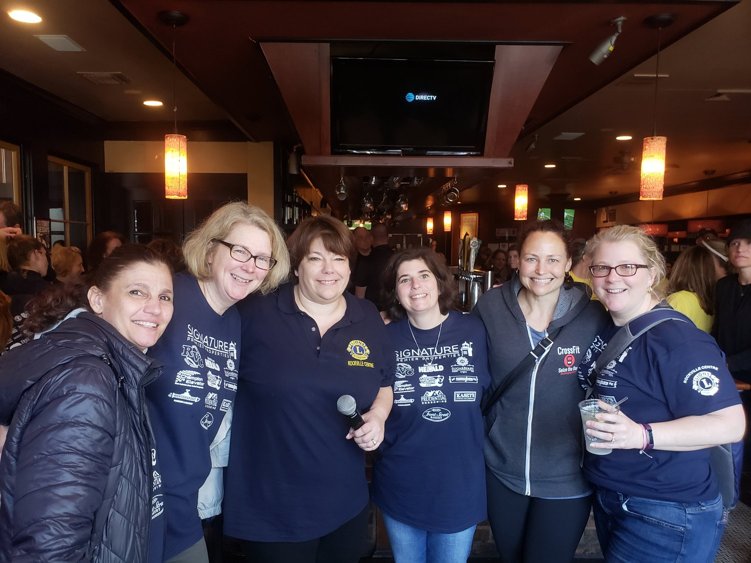 Event organizer Michelle Sewell, third from left, joined winners Jenny Costaro, far left, Kerinne Tollefsen, Carrie Alfano, Tracey Cheesman and Jeanine Cerrabone.