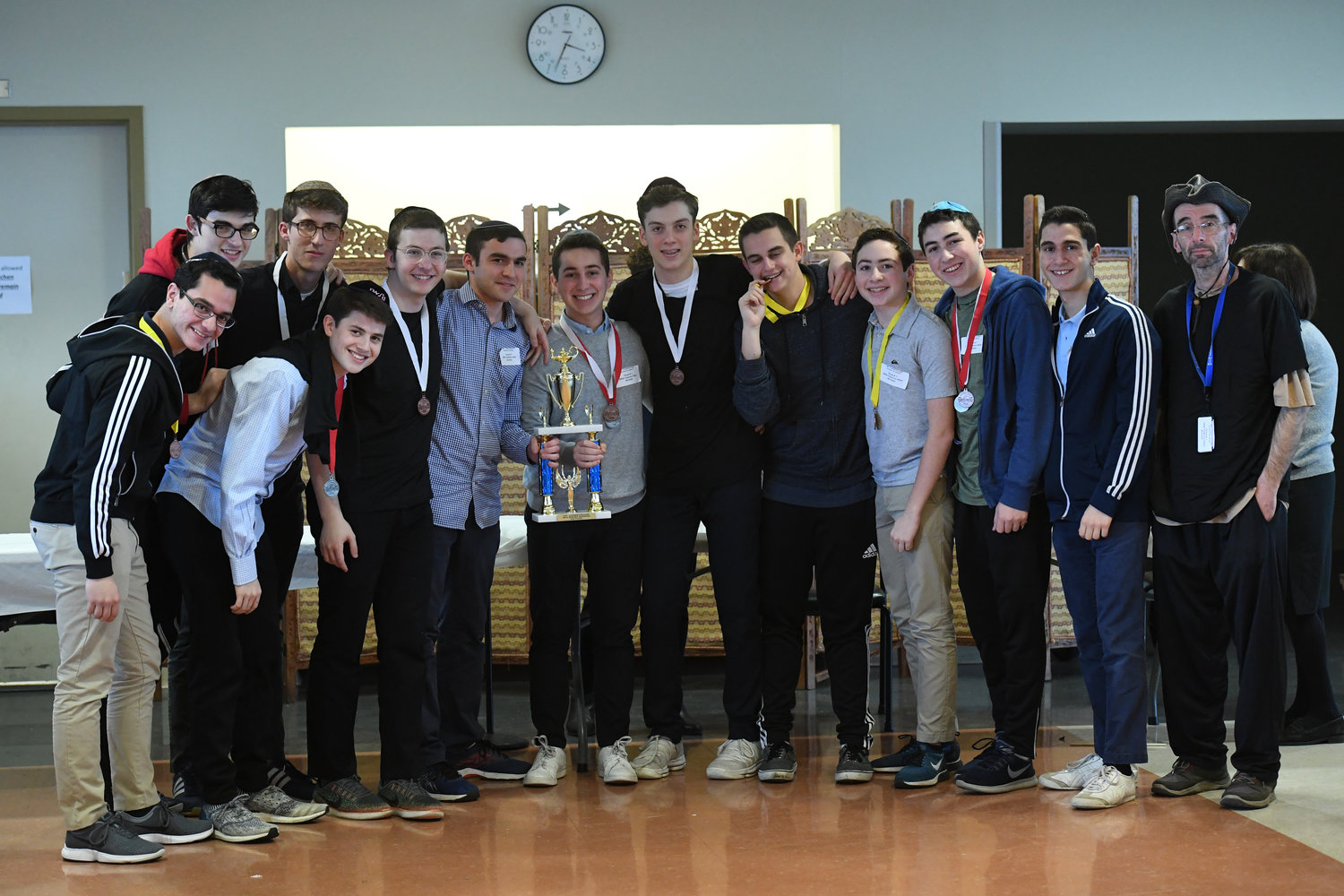 Touro's Lander College for Men hosted the annual Science Olympiad regionals, where 15 students from Davis Renov Stahler High School for Boys took second place.