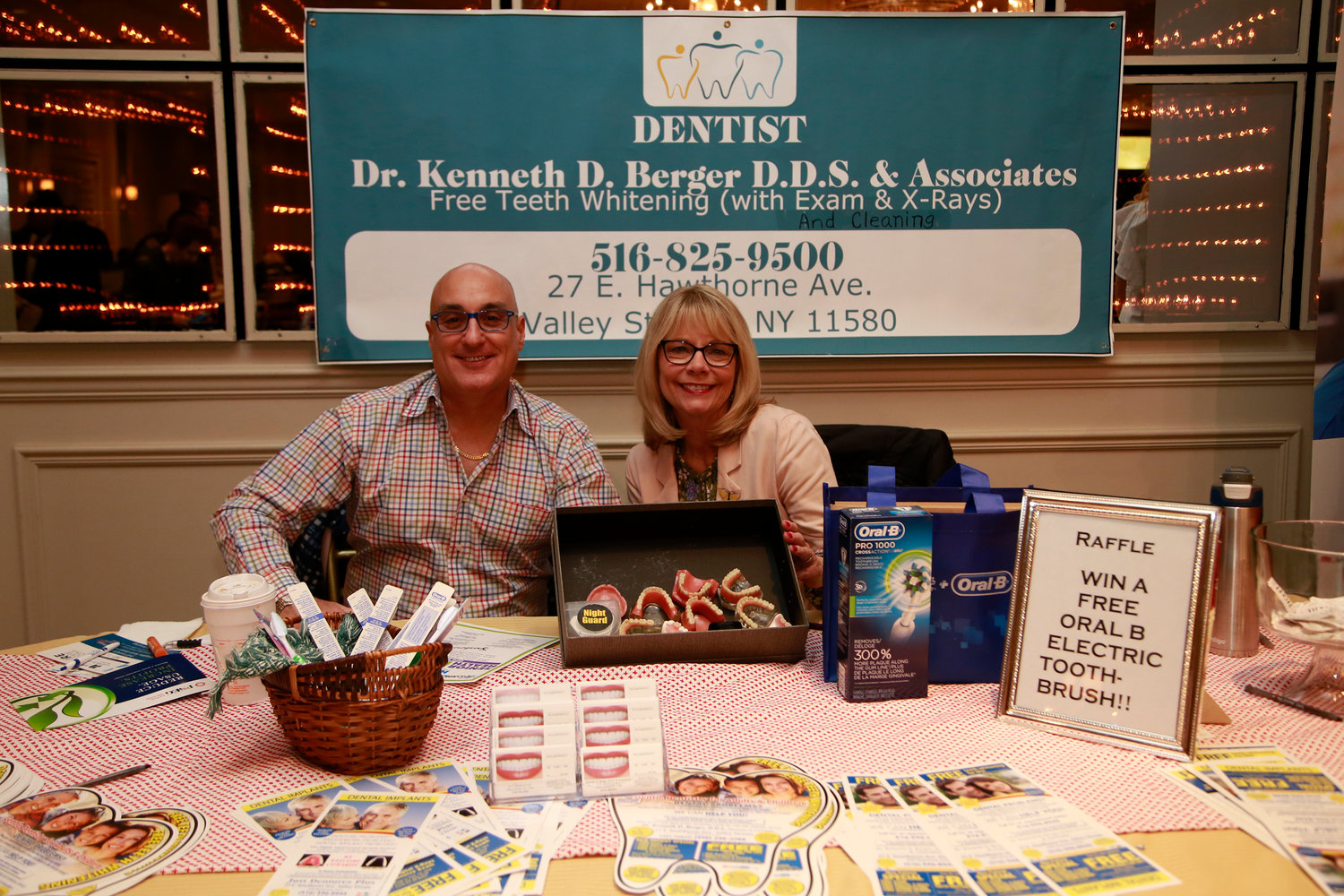 Dr. Kenneth Berger, a dentist, and Lindsay Charles spoke to attendees about dental care.