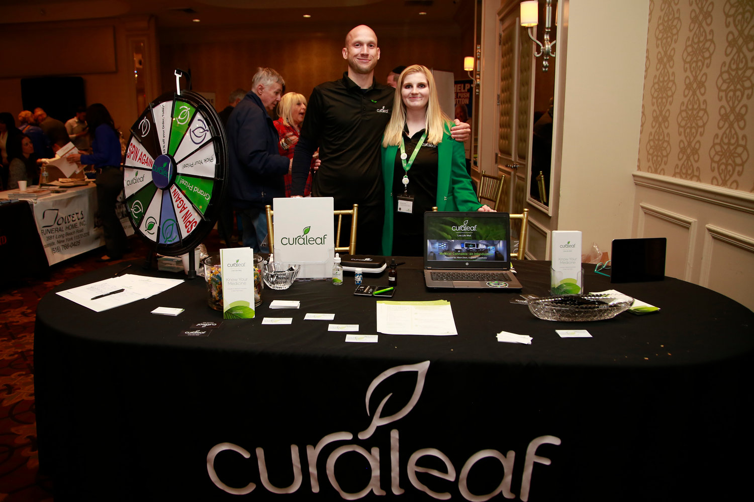 Andrew Behringer and Alison Dixon of Curaleaf NY, a medical marijuana dispensary.