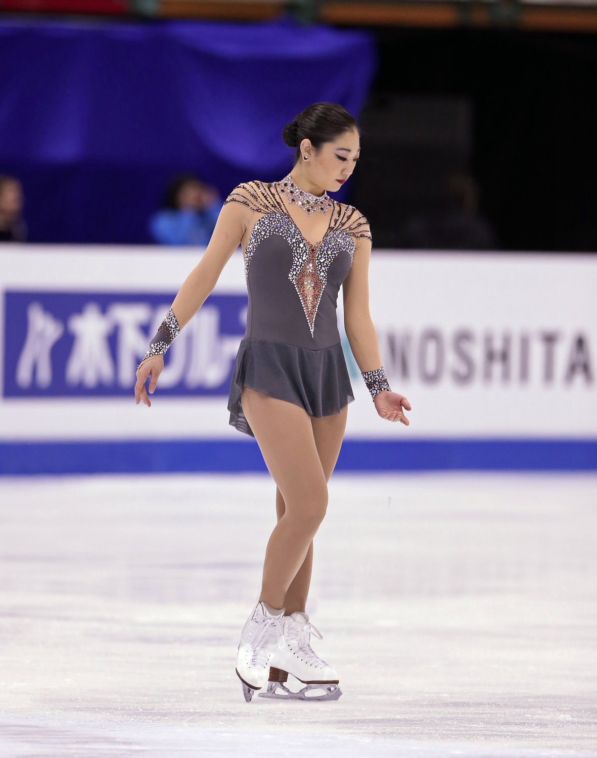 Mirai Nagasu demonstrates the form that keeps her among the world's elite skaters.