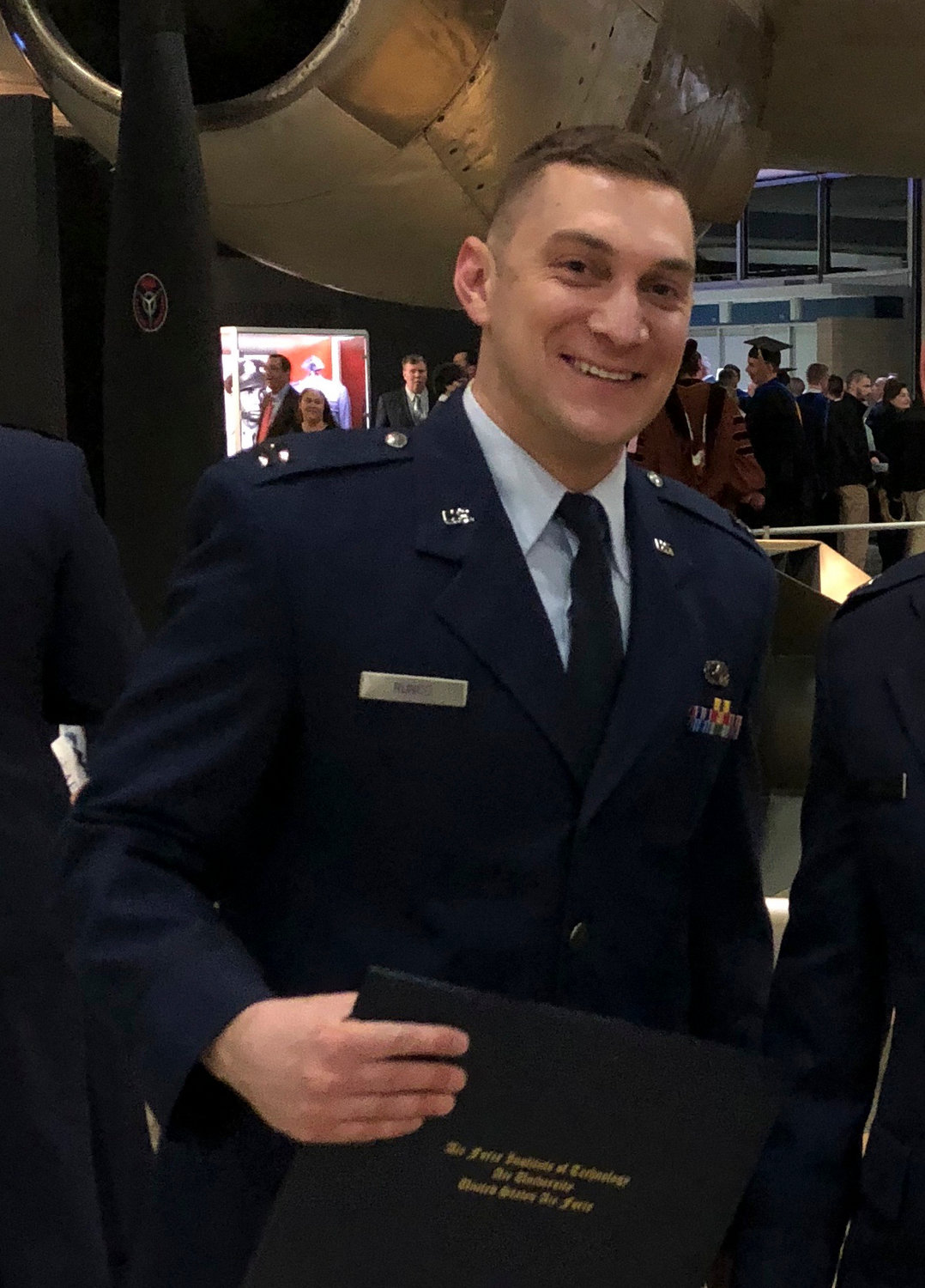 Capt. John Runco, of Atlantic Beach, was given his Master of Science degree in aeronautical engineering from the Air Force Institute of Technology in Ohio last month.