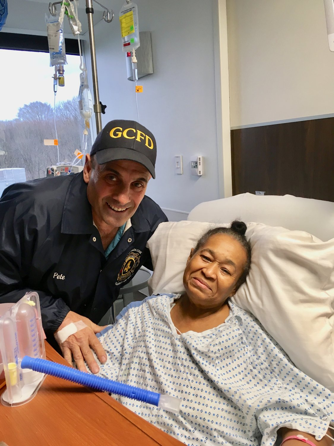 Glen Cove firefighter Pete Prudente donated a kidney to Carmen Sanchez, whom he didn't know, and saved her life.